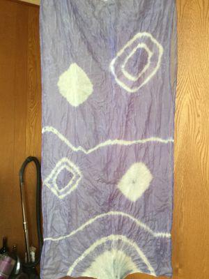 チョウマメ染め シルクスカーフ